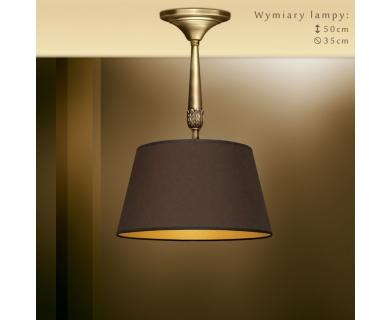 Lampa mosiężna z brązowym abażurem NA-S1BKm