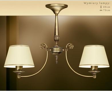 Lampa klasyczna z dwoma abażurami NA-S2K