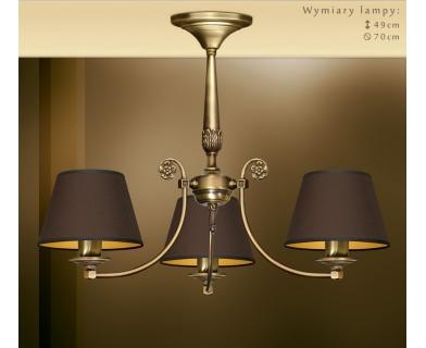 Mosiężna lampa do pokoju NA-S3Km