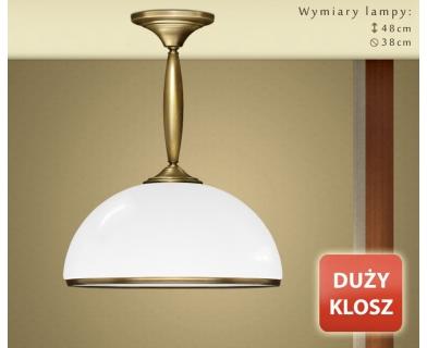 Krótka lampa mosiężna z dużym kloszem CR-S1KD