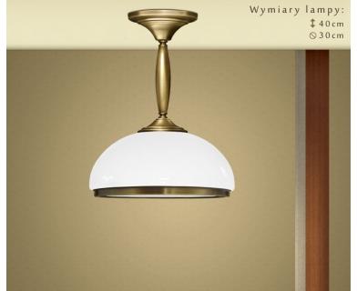 Krótka lampa mosiężna z 1 kloszem CR-S1K