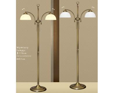 Lampa podłogowa mosiężna B-P2N