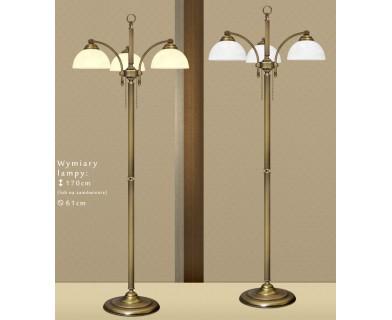 Mosiężna lampa podłogowa B-P3