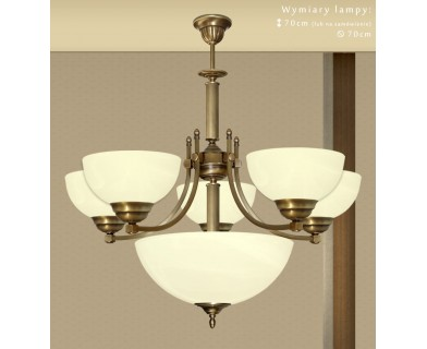 Mosiężna lampa 6-punktowa B-S6A