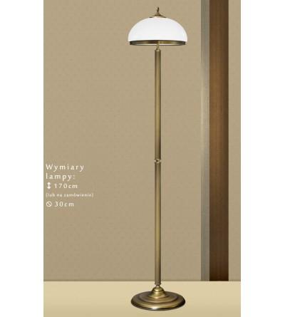 Mosiężna lampa podłogowa R-P1