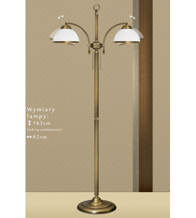 Mosiężna lampa podłogowa R-P2N