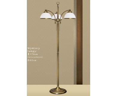 Mosiężna lampa podłogowa R-P3