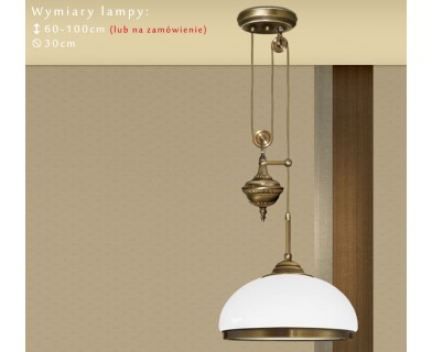 Lampa mosiężna z 1 kloszem R-S1P