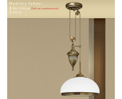 Lampa sufitowa z mosiądzu R-S1PD