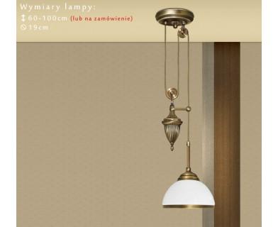 Lampa mosiężna z 1 kloszem R-S1PB