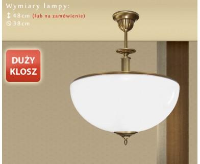Lampa mosiężna z 1 kloszem R-S1AD