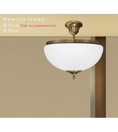 Lampa sufitowa z mosiądzu R-S1AK