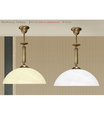 Lampa mosiężna z 1 kloszem H-S1