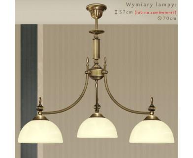 Mosiężna lampa 3-punktowa H-S3WK