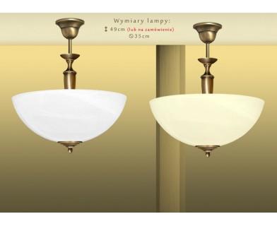 Lampa mosiężna z 1 kloszem P-S1A