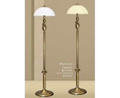 Mosiężna lampa podłogowa D-P1