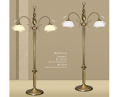 Mosiężna lampa podłogowa D-P2N