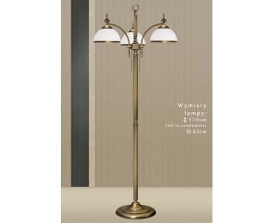 Mosiężna lampa podłogowa HR-P3