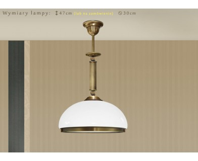 Lampa mosiężna z 1 kloszem HR-S1