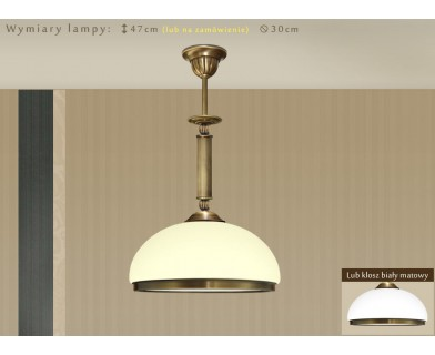 Lampa sufitowa z mosiądzu HR-S1E