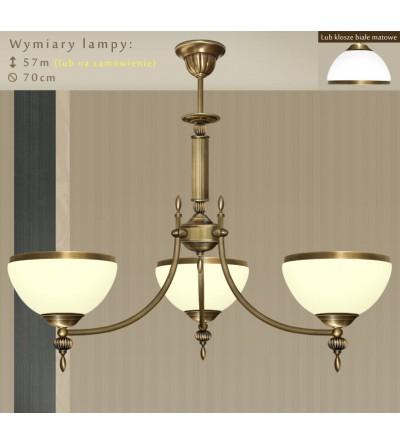 Klasyczna lampa mosiężna HR-S3AKE