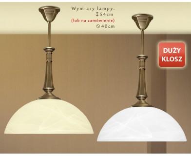 Lampa mosiężna z 1 kloszem E-S1D