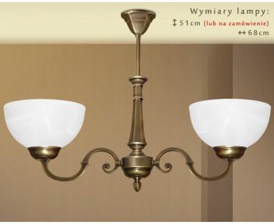 Mosiężna lampa 2-punktowa E-S2