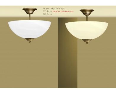 Lampa mosiężna z 1 kloszem U-S1AK