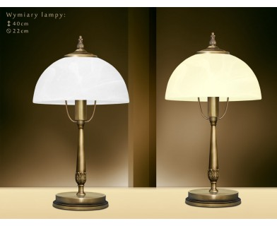 Lampa biurkowa z mosiądzu N-B1G