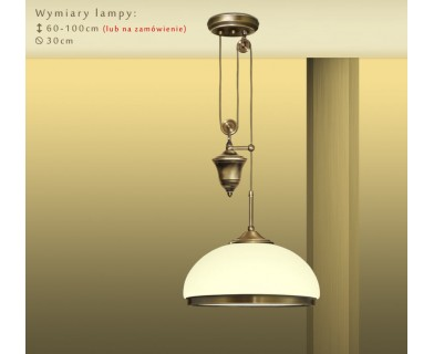 Mosiężna lampa 1-punktowa PR-S1PE