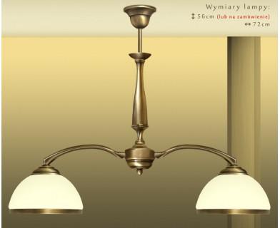 Mosiężna lampa 2-punktowa PR-S2E