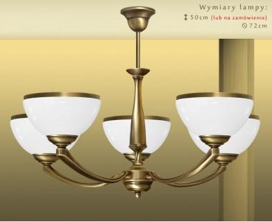 Mosiężna lampa 5-punktowa PR-S5A