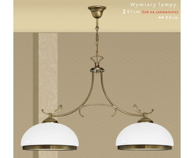 Klasyczna lampa dwuramienna DR-S2