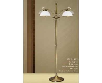 Mosiężna lampa podłogowa SR-P2N