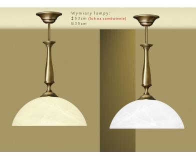 Lampa mosiężna z 1 kloszem U-S1