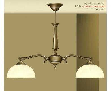 Klasyczna lampa dwuramienna U-S2