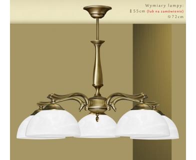Mosiężna lampa 5-punktowa U-S5
