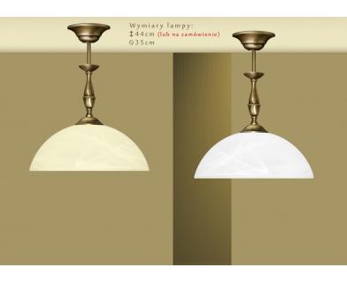 Lampa mosiężna z 1 kloszem U-S1C