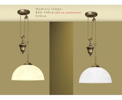 Lampa mosiężna z 1 kloszem U-S1P