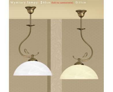 Lampa klasyczna z mosiądzu D-S1