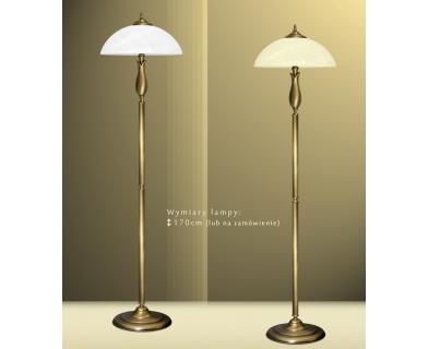 Mosiężna lampa podłogowa M-P1