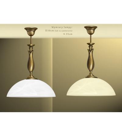 Lampa mosiężna z 1 kloszem M-S1