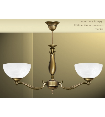 Mosiężna lampa 2-punktowa M-S2