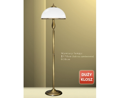 Lampa podłogowa mosiężna MR-P1D