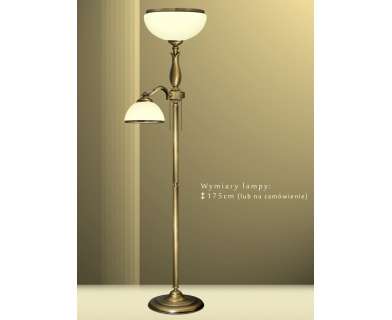 Lampa podłogowa mosiężna MR-P2E