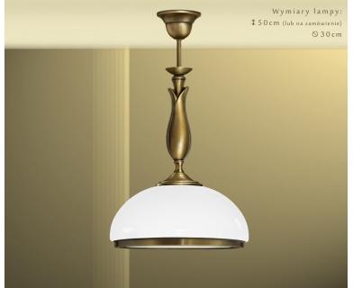 Lampa mosiężna z 1 kloszem MR-S1