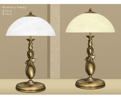 Mosiężna lampa stołowa D-B2
