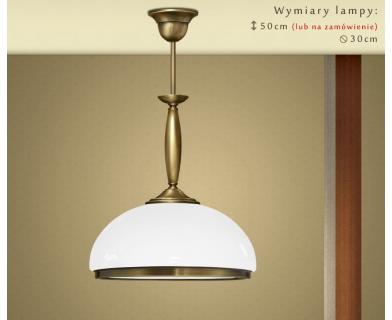 Lampa mosiężna z 1 kloszem CR-S1