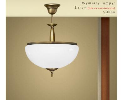 Lampa mosiężna z 1 kloszem CR-S1A