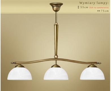 Żyrandol mosiężny nad stół Y-S3L